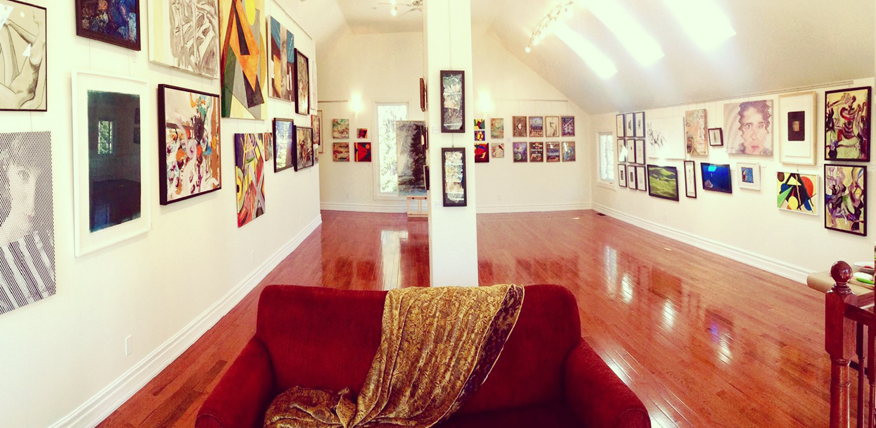 The stunning space in Blue Rain Gallery